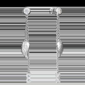Серьги-пусеты из серебра с фианитом 02-4444-00-401-0200-69