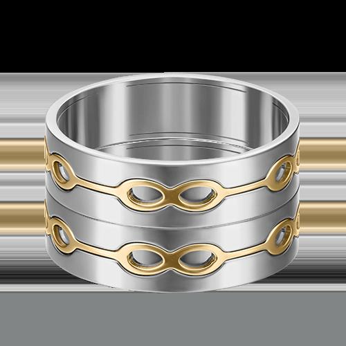 Обручальное кольцо из комбинированного золота 01-5280-00-000-1121-39