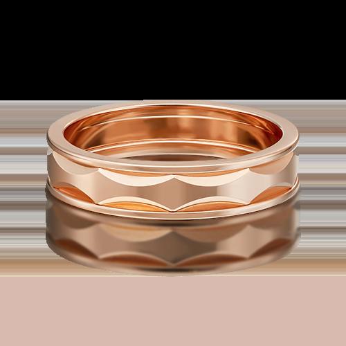 Обручальное кольцо из красного золота 01-5440-00-000-1110-39