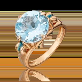 Кольцо из красного золота с топазом и эмалью 01-5407-00-201-1110-46