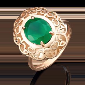 Кольцо из красного золота с халцедоном 01-4814-00-274-1110-47
