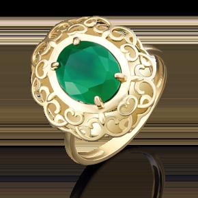 Кольцо из лимонного золота с халцедоном 01-4814-00-274-1130-47