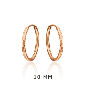 Серьги-конго из красного золота 02-0074-31-000-1110-19