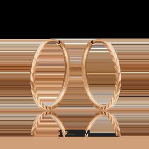 Серьги-конго из красного золота 02-0074-32-000-1110-19