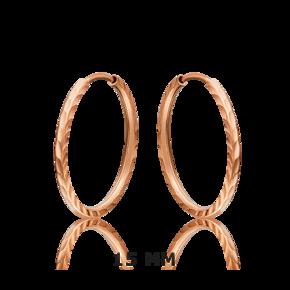 Серьги-конго из красного золота 02-0074-33-000-1110-19