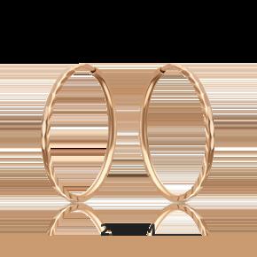 Серьги-конго из красного золота 02-0074-34-000-1110-19