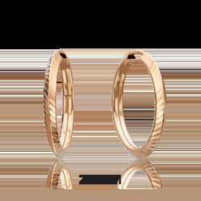 Серьги-конго из красного золота 02-0074-41-000-1110-19