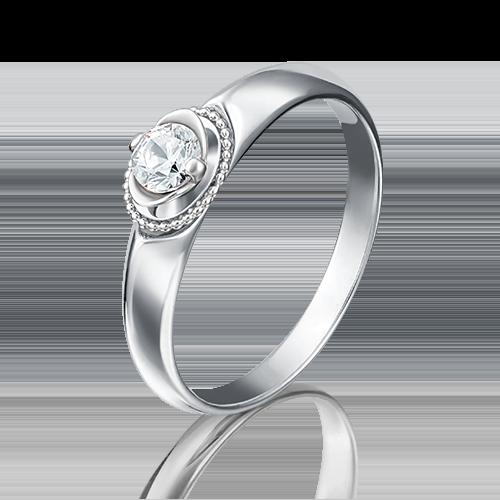 Кольцо из белого золота бриллиантом 01-5132-00-101-1120-30