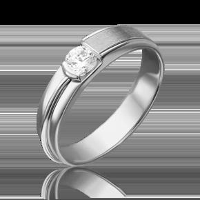 Помолвочное кольцо из белого золота с бриллиантом 01-5244-00-101-1120-30