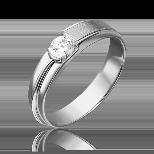Помолвочное кольцо из белого золота бриллиантом 01-5244-00-101-1120-30