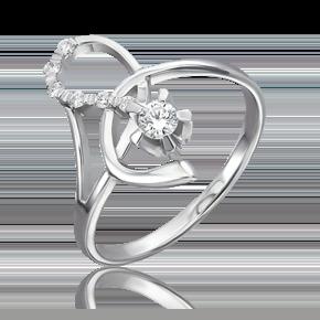 Кольцо из белого золота с бриллиантом 01-0090-00-101-1120-30