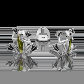 Серьги-пусеты из серебра с эмалью 02-4654-00-000-0200-71