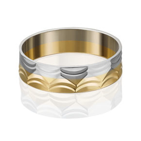 Обручальное кольцо из лимонного золота 01-4824-00-000-1121-39