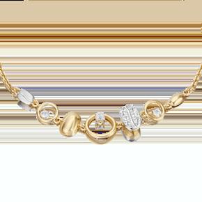 Браслет из лимонного золота с топазом white 05-0719-00-201-1121