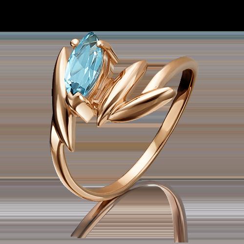 Кольцо из красного золота топазом 01-1428-00-201-1110-46