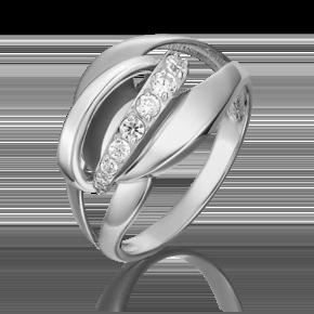 Кольцо из белого золота с фианитом 01-5399-00-401-1120-03