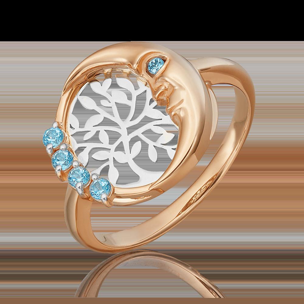 Кольцо из комбинированного золота с топазом 01-5463-00-201-1111-75