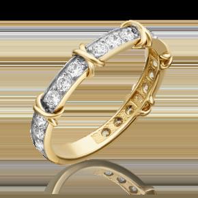 Кольцо из лимонного золота с фианитом огр.SW 01-5373-00-501-1130-38