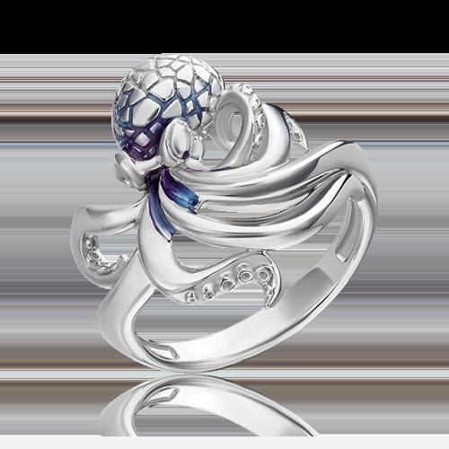 Кольцо из серебра с эмалью 01-5486-00-000-0200-68