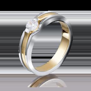 Кольцо из лимонного золота с бриллиантом 01-5190-00-101-1121-30