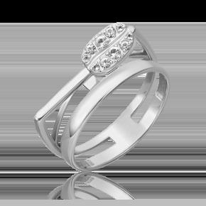 Кольцо из белого золота с топазом white 01-5567-00-201-1120
