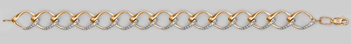 Браслет из красного золота фианитом 05-0414-00-401-1110-24