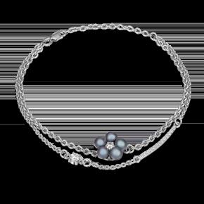 Браслет из серебра с жемчугом культивированным и фианитом 05-0594-00-302-0200-69