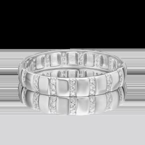 Обручальное кольцо из платины с бриллиантом 01-1791-00-101-2100-30