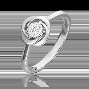 Кольцо из белого золота с бриллиантом 01-5541-00-101-1120-30