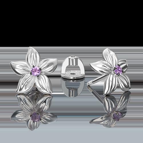 Серьги из серебра с аметистом 02-4800-00-203-0200-68
