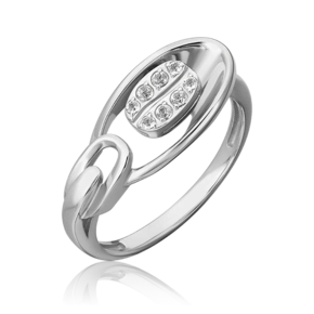 Кольцо из белого золота с топазом white 01-5566-00-201-1120