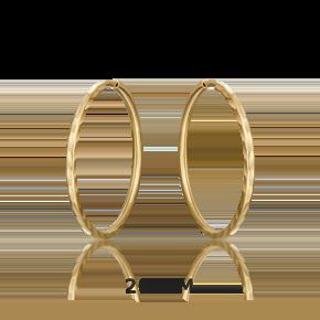 Серьги-конго из лимонного золота 02-0074-02-000-1130-19