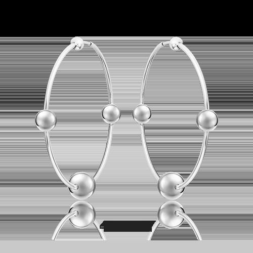 Серьги-конго из серебра 02-4807-00-000-0200-68