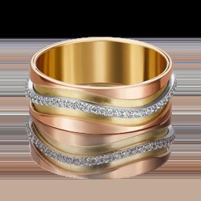 Обручальное кольцо из комбинированного золота с фианитом 01-4795-00-401-1140-50