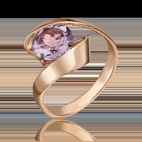 Кольцо из красного золота с аметистом 01-5430-00-203-1110-46