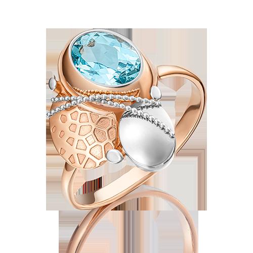 Кольцо из комбинированного золота топазом 01-5068-00-201-1111-57