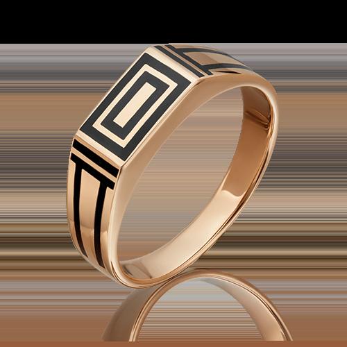 Печатка из красного золота эмалью 01-4169-00-000-1110-25