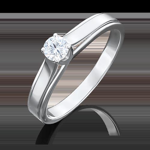 Помолвочное кольцо из белого золота бриллиантом 01-5029-00-101-1120-30