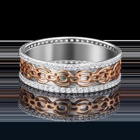 Обручальное кольцо из комбинированного золота с фианитом 01-4783-00-401-1111-50