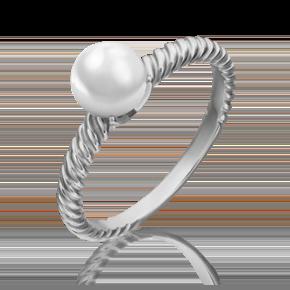 Кольцо из белого золота с жемчугом культивированным 01-5328-00-301-1120-31