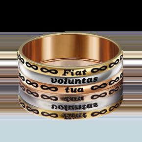 Обручальное кольцо из комбинированного золота с эмалью 01-4855-00-000-1140-39