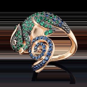Кольцо из красного золота с фианитом 01-4857-00-404-1110-52