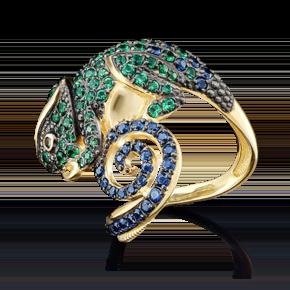 Кольцо из лимонного золота с фианитом 01-4857-00-404-1130-52