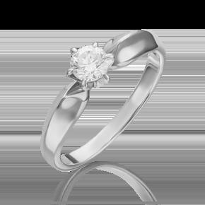 Кольцо из белого золота с бриллиантом 01-0913-00-101-1120-30