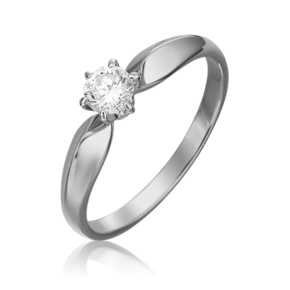 Кольцо из белого золота с бриллиантом 01-0915-00-101-1120-30