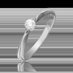 Кольцо из белого золота с бриллиантом 01-0931-00-101-1120-30