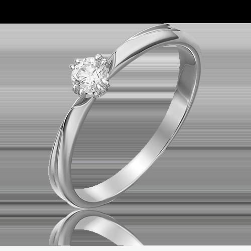 Кольцо из белого золота с бриллиантом 01-0935-00-101-1120-30