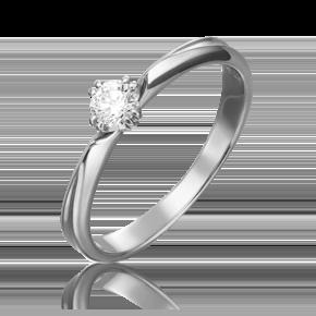 Кольцо из белого золота с бриллиантом 01-0937-00-101-1120-30