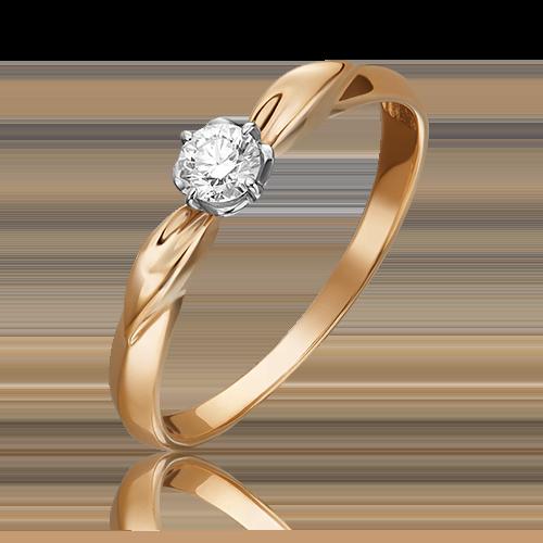 Кольцо из комбинированного золота с бриллиантом 01-0960-00-101-1111-30