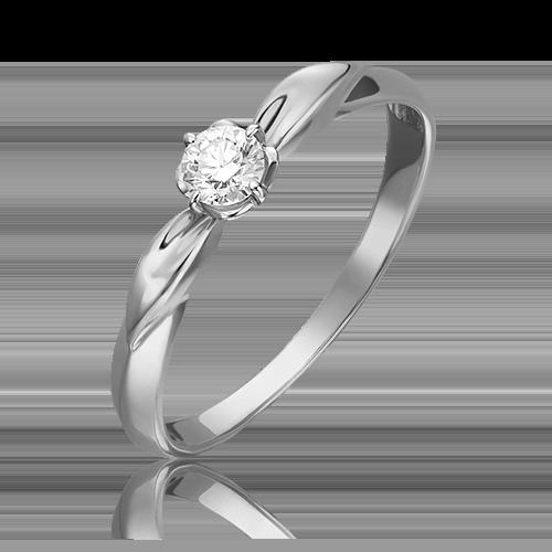 Кольцо из белого золота с бриллиантом 01-0961-00-101-1120-30